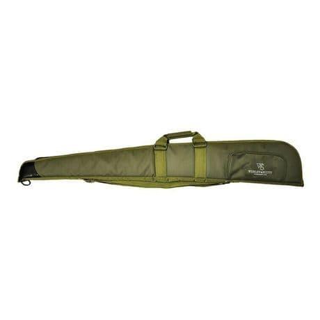 """Webley & Scott Green Deluxe Padded 52"""" Gunbag Shotgun Slip Case Shoulder Strap"""